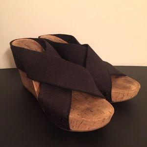 Lucky Brand Black Linen Elastic Miller Sandals   8